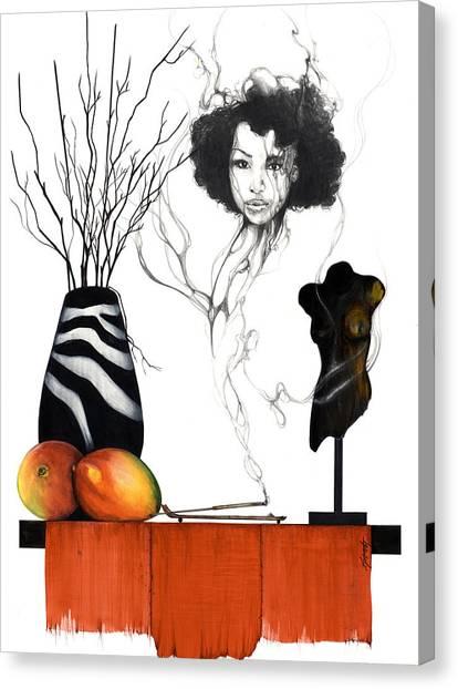 Mango Tree Canvas Print - Hot Like Fire IIi by Anthony Burks Sr