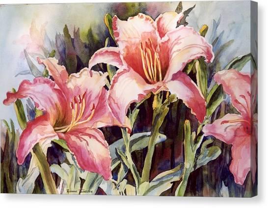 Hot Lillies Canvas Print