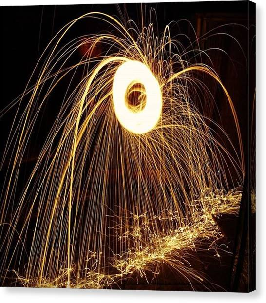 Finches Canvas Print - #hot #metal #steel #battery #steelwool by Gary Finch