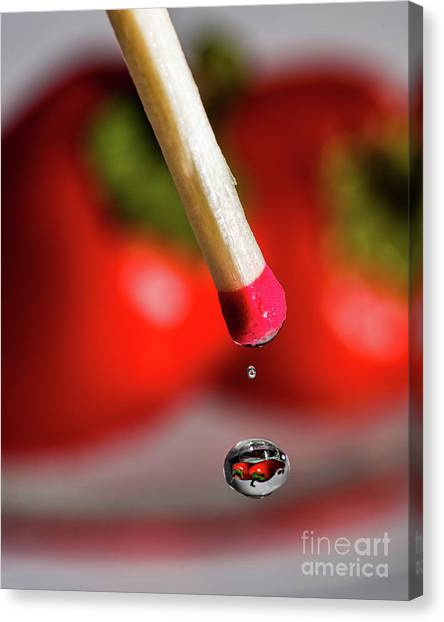 Hot Pepper Drops Canvas Print