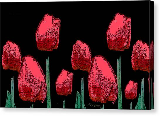 Hot Red Tulips Canvas Print