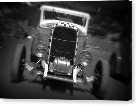 Hot Rods At Pendine 11 Canvas Print