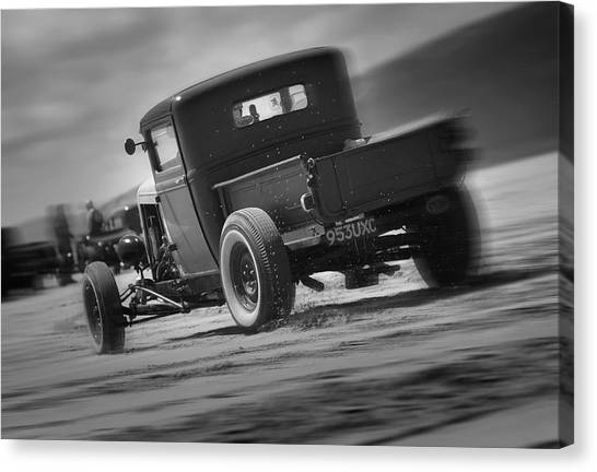 Hot Rods At Pendine 13 Canvas Print