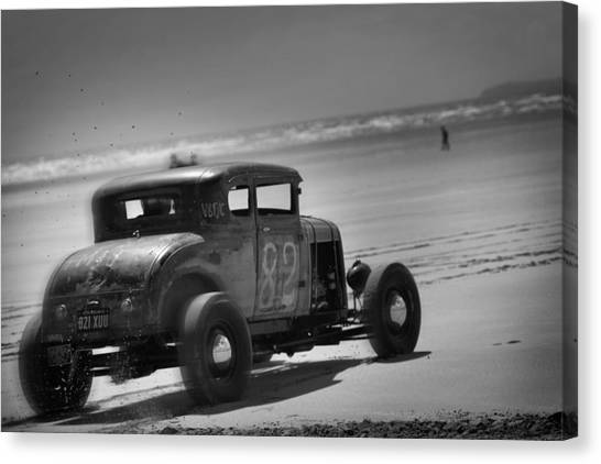 Hot Rods At Pendine 12 Canvas Print