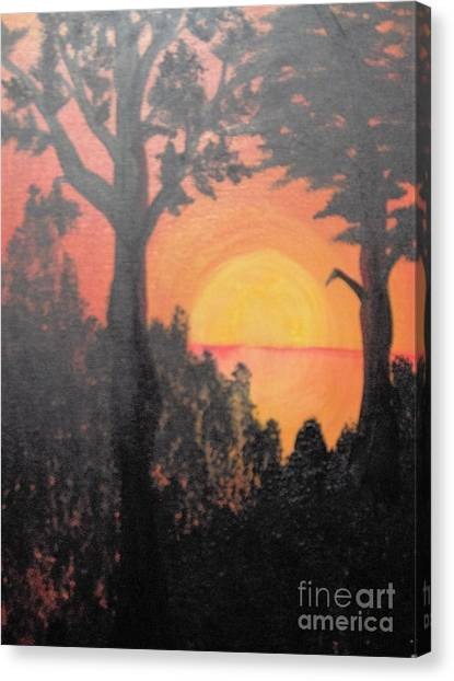 Canvas Print featuring the painting Hot by Saundra Johnson