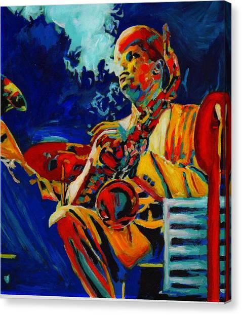 Hot Sax Canvas Print by Vel Verrept