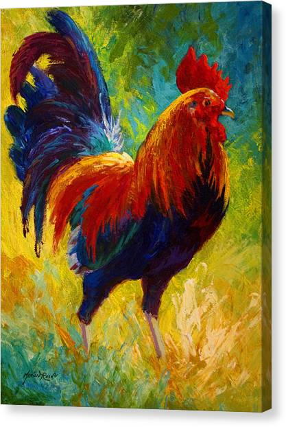 Country Canvas Print - Hot Shot - Rooster by Marion Rose