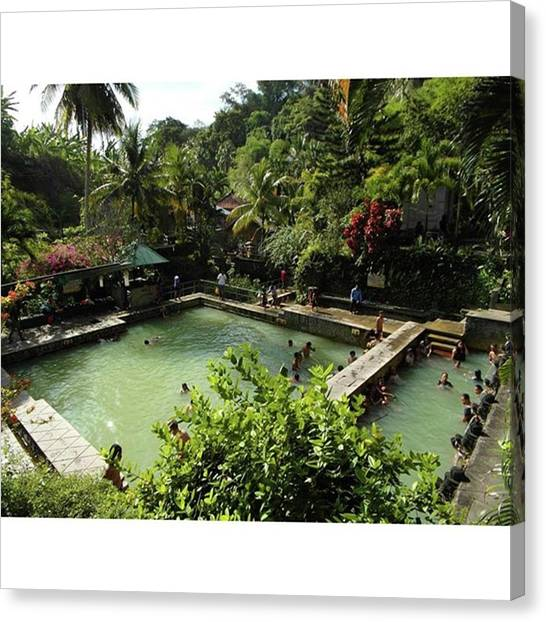 Backpacks Canvas Print - Hot Spring Bali #hotspring #hot #spring by Mydailypics Hoogeboom