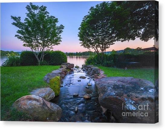 Hot Spring Water Flow Canvas Print