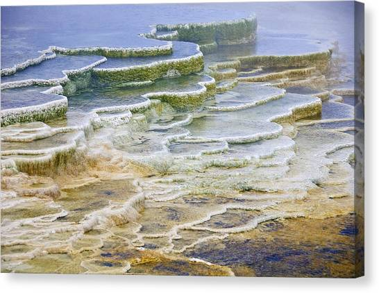 Canvas Print featuring the photograph Hot Springs Runoff by Gary Lengyel