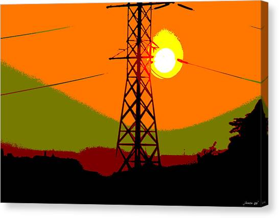 Hot Summer Sun Canvas Print
