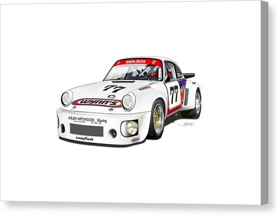 Kirby Canvas Print - Hotchkis Rsr No Background by Alain Jamar