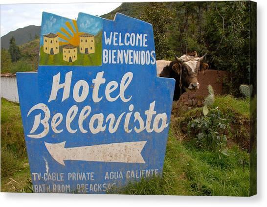 Hotel Bellavisto Canvas Print by Lynn Friedman