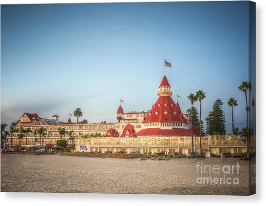 Hotel Del Coronado Dusk Canvas Print