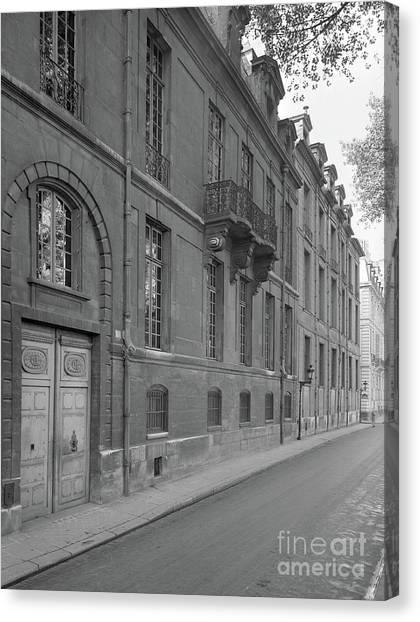 Parisian Canvas Print - Hotel Lauzun, Facade, 1929 by French School