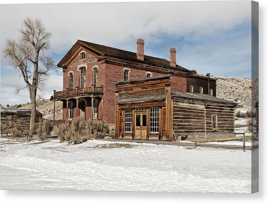 Hotel Meade And Saloon Canvas Print
