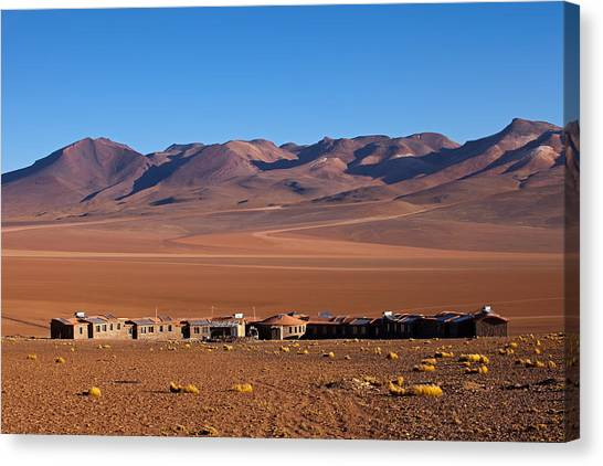 Hotel Tayka Del Desierto In Siloli Desert Canvas Print