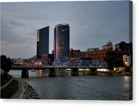 Hotels On The Grand River Canvas Print