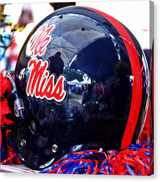 University Of Mississippi Ole Miss Canvas Print - Hotty Toddy  by Matt Taylor