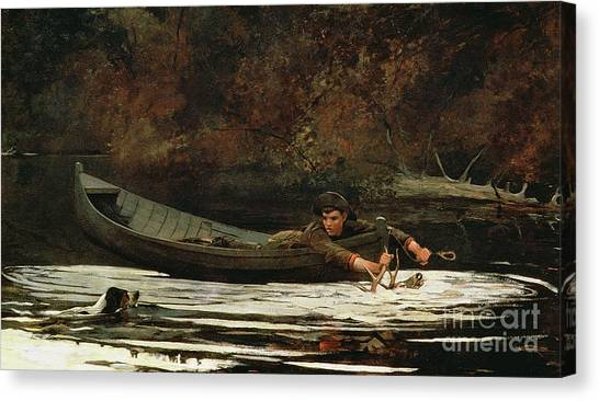 Winslow Canvas Print - Hound And Hunter by Winslow Homer