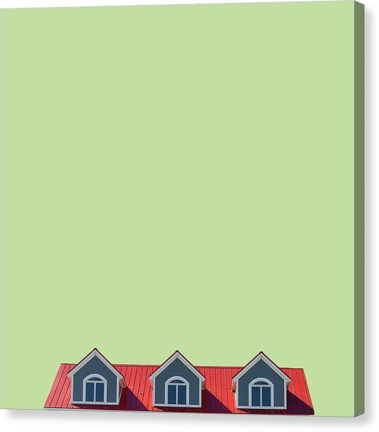 Minimal Canvas Print - House by Caterina Theoharidou