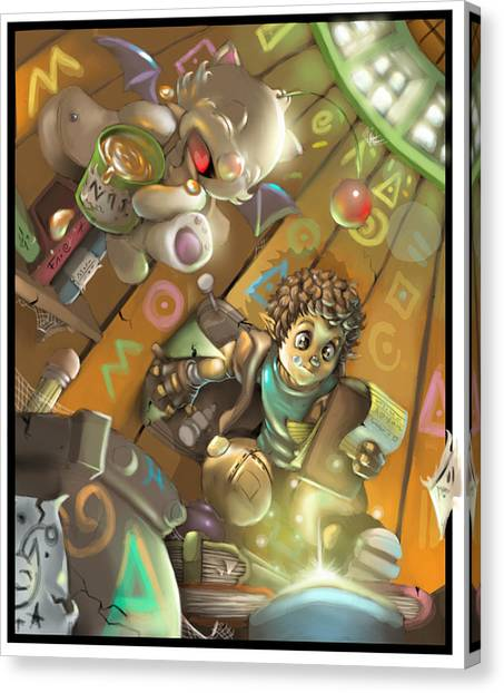 Final Fantasy Canvas Print - House Cleaning by Darryl McClain