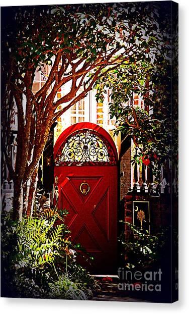 House Door 5 In Charleston Sc  Canvas Print