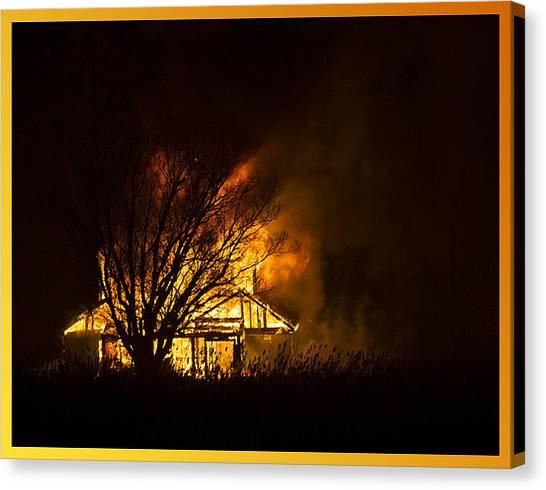 House Fire Canvas Print