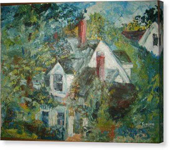 House In Gorham Canvas Print by Joseph Sandora Jr