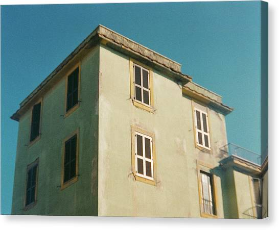 House In Ostia Beach, Rome Canvas Print