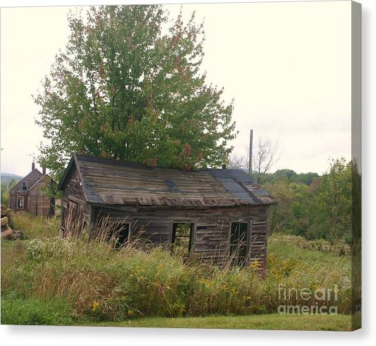House Left Alone. Canvas Print by Dennis Curry