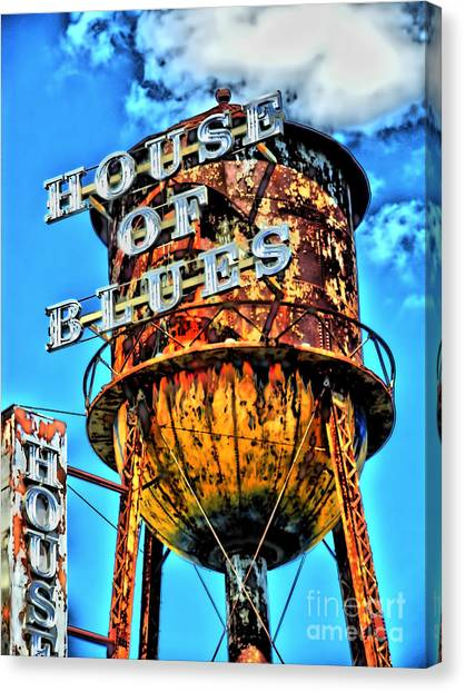 Jasper Johns Canvas Print - House Of Blues Orlando by Corky Willis Atlanta Photography