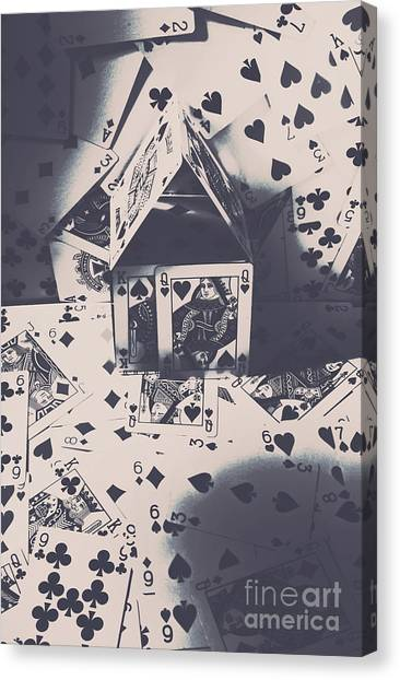 Lucky Canvas Print - House Of Cards by Jorgo Photography - Wall Art Gallery