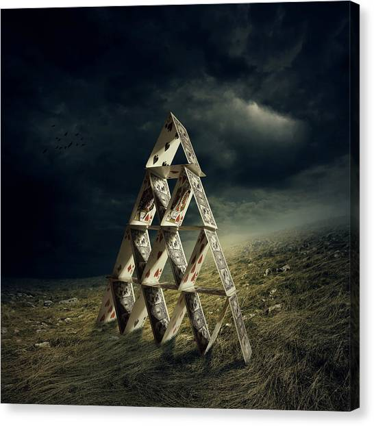 Storm Clouds Canvas Print - House Of Cards by Zoltan Toth