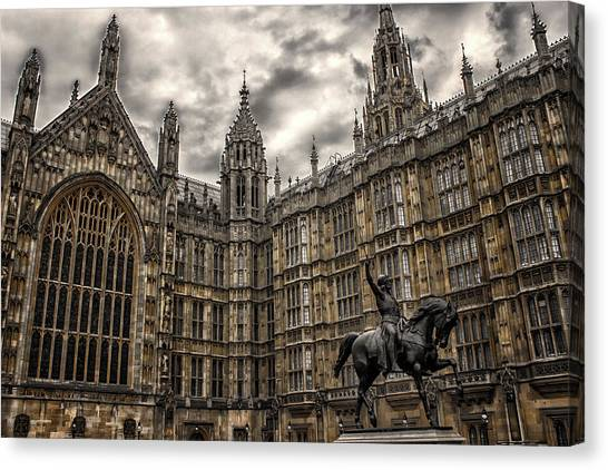 Palace Of Westminster Canvas Print - House Of Commons by Martin Newman