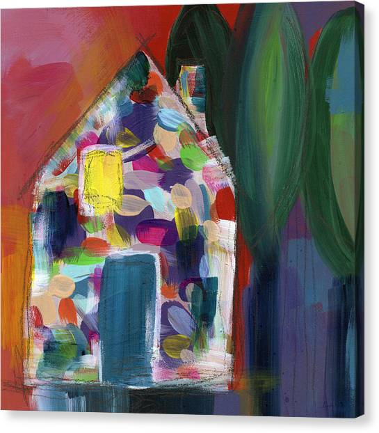 Landscape Canvas Print - House Of Many Colors- Art By Linda Woods by Linda Woods