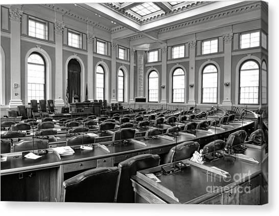 Augusta Canvas Print - House Of Representatives Chamber Of Maine In Augusta by Olivier Le Queinec