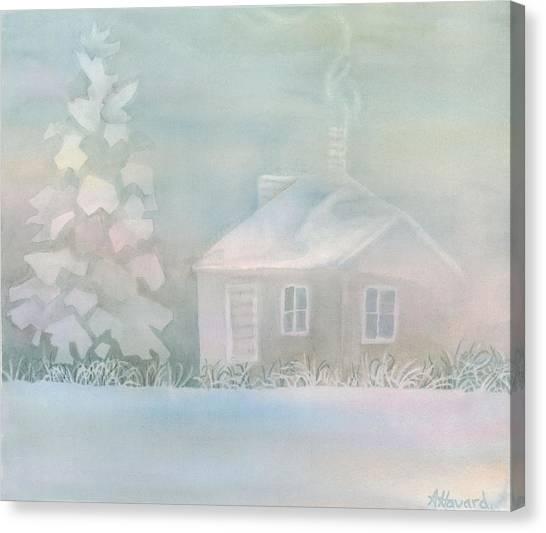 House Of Snow And Fog Canvas Print