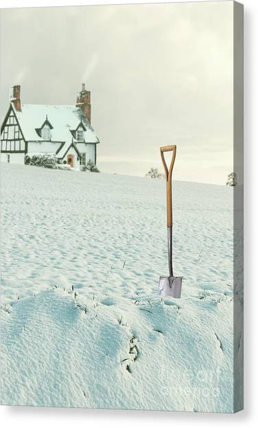 Shovels Canvas Print - House On The Hill by Amanda Elwell