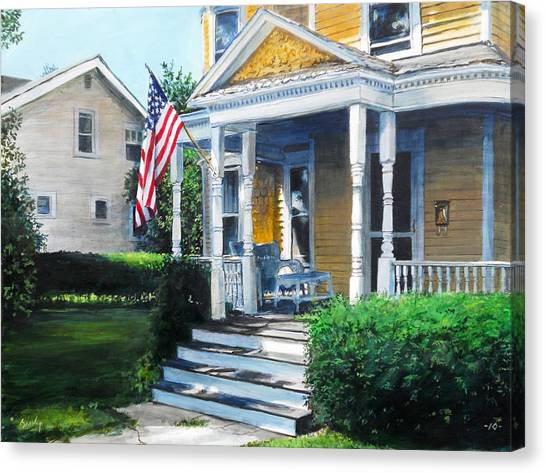 House On Washington Street Canvas Print
