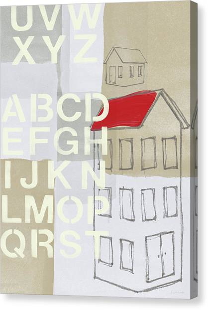 Industrial Canvas Print - House Plans- Art By Linda Woods by Linda Woods