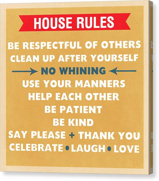 Family Rules Canvas Prints | Fine Art America