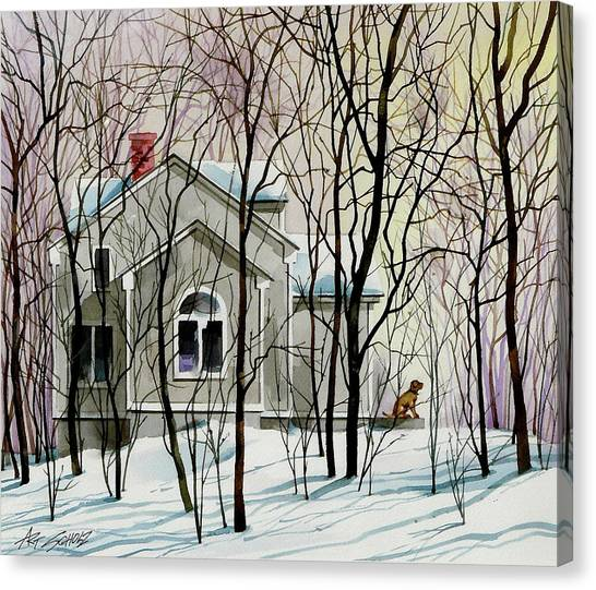 House Sitting Canvas Print by Art Scholz