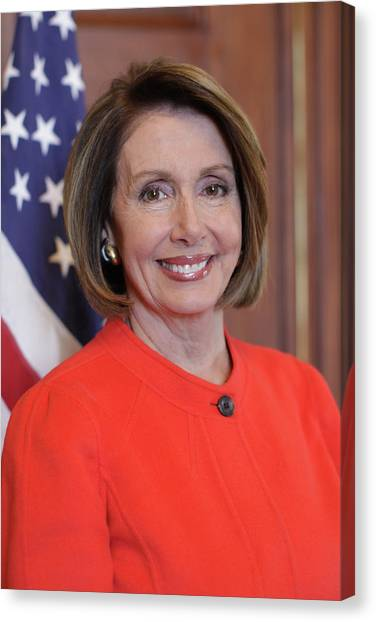 Nancy Pelosi Canvas Print - House Speaker Nancy Pelosi Of California  by Celestial Images