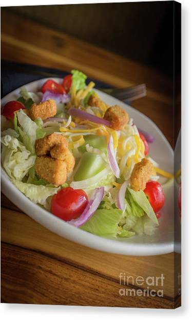 Ranch Dressing Canvas Print - House Vegetable Salad by Ezume Images