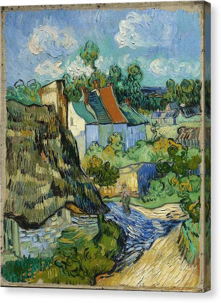 Canvas Print featuring the painting Houses In Auvers by Van Gogh