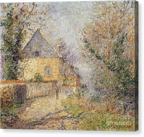Country Roads Canvas Print - Houses On The Banks Of The Eure by Gustave Loiseau