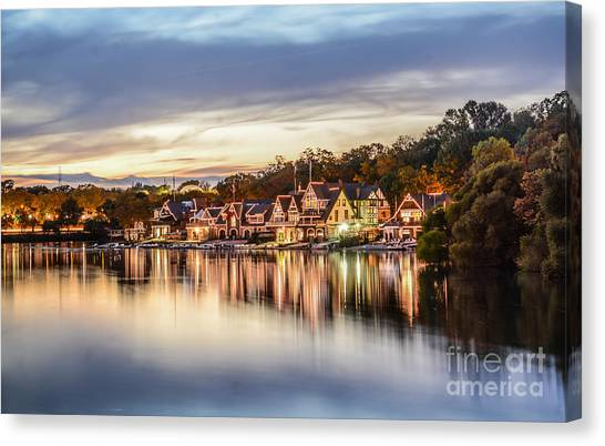 Houses On The Water Canvas Print