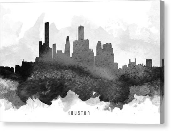 Houston Skyline Canvas Print - Houston Cityscape 11 by Aged Pixel