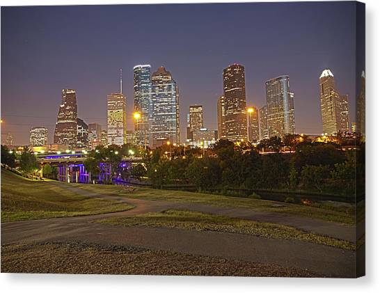 Houston Cityscape1 Canvas Print